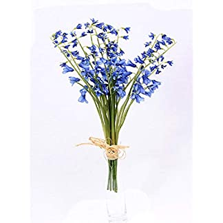 WEFLOWERS Flores de campanillas Artificiales Flores Silvestres atadas Manojo de 10 Tallos Individuales Paquete Posy 120 Cabezas de Flores