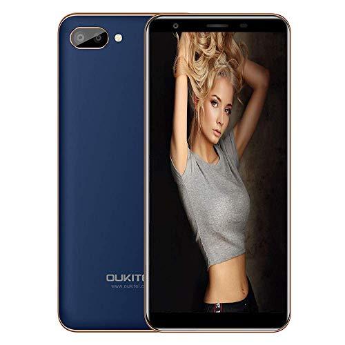 Handy Ohne Vertrag, Oukitel C11 5,5 Zoll Touch Display 1GB RAM 8GB ROM Interner Speicher, MTK6580A Quad Core, Duale hintere Kamera Dual SIM 3G Smartphone Android 8.1 Handy 2800mAh Batterie- Blau