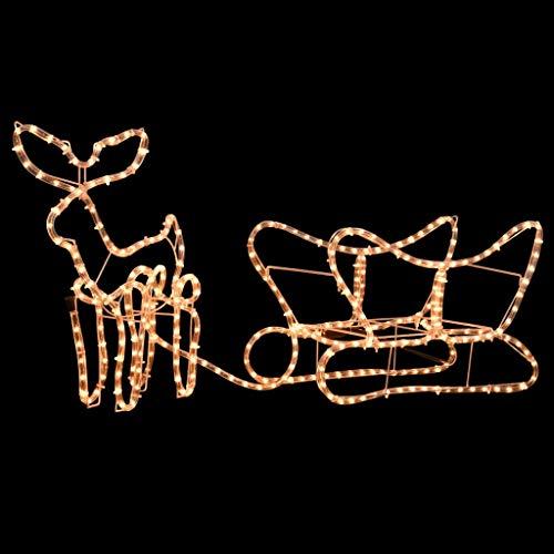 Luces de Navidad con 2 Renos y Trineo