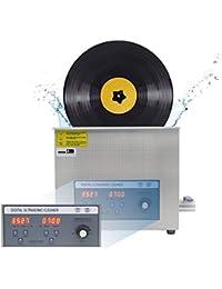 CGOLDENWALL 6L Limpiador Ultrasónico de Disco de Vinilo PS-30AL de Acero Inoxidable con Temporizador & Control de Temperatura Rotación Automática para Disco de 7 In. 12 In. (6 Discs)