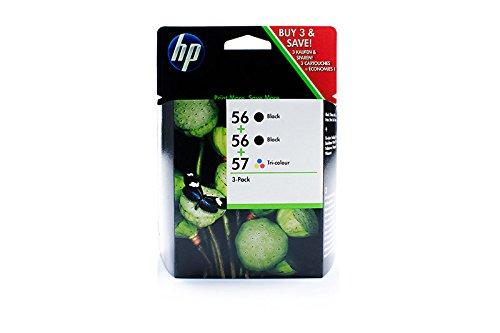 Preisvergleich Produktbild HP - Hewlett Packard (56+56+57 / SD 399 AE) - original - 3 x Druckkopf Multipack (schwarz, cyan, magenta, gelb)