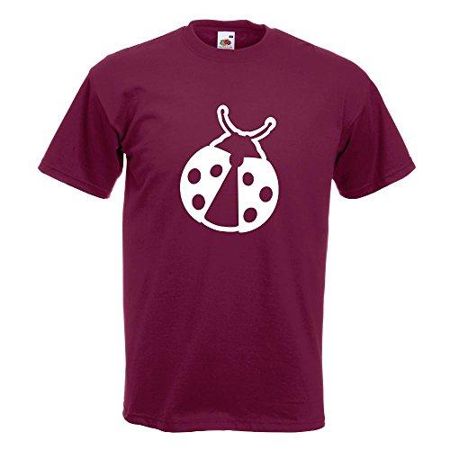 KIWISTAR - Marienkäfer T-Shirt in 15 verschiedenen Farben - Herren Funshirt bedruckt Design Sprüche Spruch Motive Oberteil Baumwolle Print Größe S M L XL XXL Burgund