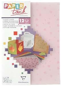 Clairefontaine-papier Calque Paper Touch A4 Coeurs Rose - Pochette De 12