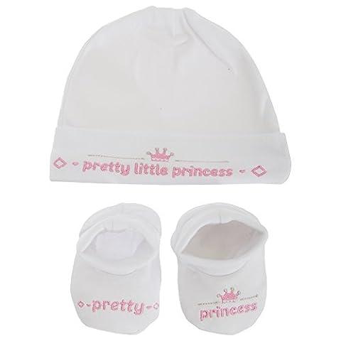 Baby Boys/Girls Little Prince/Princess 2 Piece Gift Set (0-3 Months) (White/Pink)