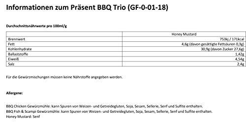 41IpTUxVnJL - Grill-Zubehör / Gewürze-Set zum Grillen für Männer / Geschenk mit zwei Mühlen und Honig-Senf