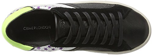 Crimine Londra Donne 25343a17b Multicolore Sneaker (nero Argento)