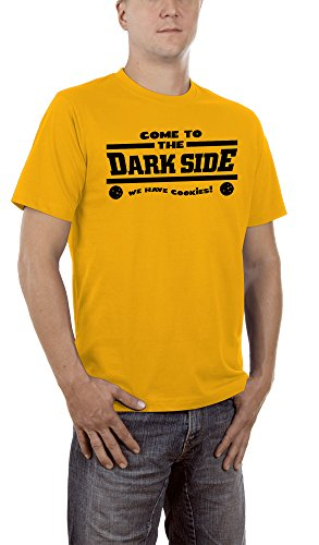 Touchlines Herren T-Shirt Come To The Dark Side We Have Cookies, Gold, XXXXXL, B260713TS (T-shirt Cookie-gelb)