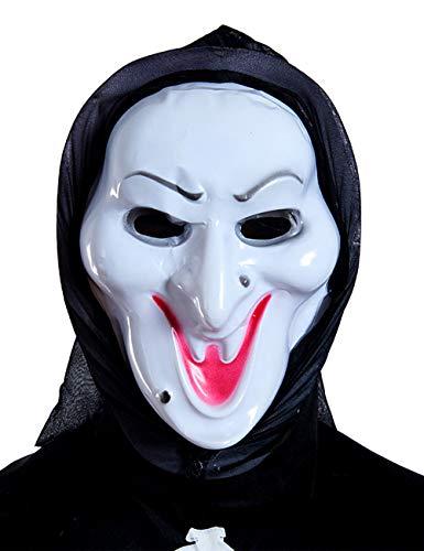 Scary Halloween Kostüm Masken Terror Ghost Devil Maske Tanzparty (Farbe : Witch)
