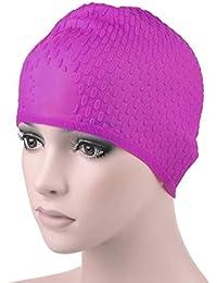Fuxitoggo Capelli Lunghi o Spessi da Uomo in Silicone per Cuffia da Nuoto  (Colore   2263e144bc5e