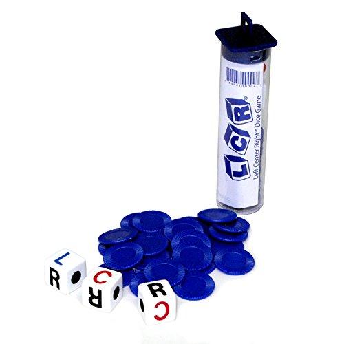 GEORGE & COMPANY LLC LCR/Left Center Right Family Dice Game in a Tube AKA LRC Clr CRL Rcl rlc (Il Colore può variare)