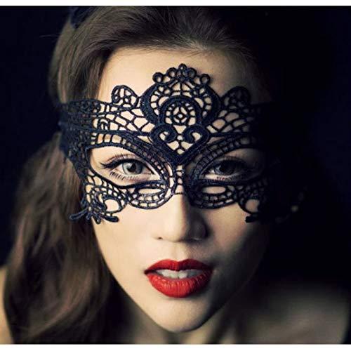Sexy Paar liefert Sexy Eye Lace Maskerade Maske Kostüm Party Halbgesichtsmaske Glänzende Maske Charming Carnival Mask (Schwarz) Geschenk an die andere Hälfte