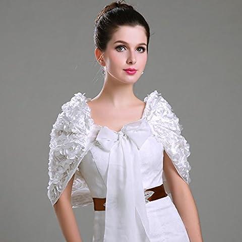 ZYQYJGF Nuziale Abito Da Sposa Di Wrap Rosa Papillon White