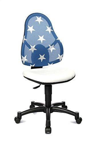 Topstar Kinder-Drehstuhl Open Art Junior weiß, Netz-Rücken blau mit Sternen