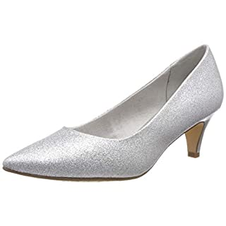 Tamaris Damen 1-1-22455-22 919 Pumps, Silber (Silver Glam, 41 EU