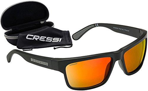 Cressi Ipanema Gafas de Sol, Unisex Adulto, Gris/Lentes Espejados Naranja, Talla Única