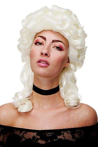 WIG ME UP - Qualitätsperücke Perücke Damenperücke Renaissance & Barock Adlige Edelfrau Weiß Weißblond Locken lang GFW1702-613A
