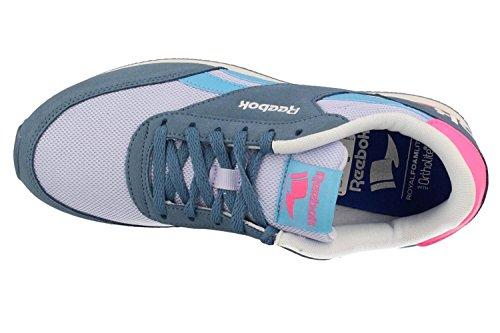 Reebok Royal Cl Jog 2rs, Chaussures de Sport Femme Gris (ardoise / lilas cristallin / bleu impeccable / rose poison)