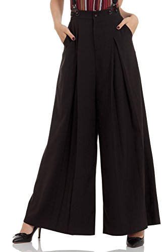Voodoo Vixen - Shelley Black Trouser L