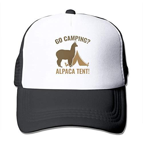 ewtretr Turnbeutel Hipster Sporttaschen Alpaca Tent Bag Summer Mesh Baseball Cap Adjustable Trucker Hat for Unisex Black