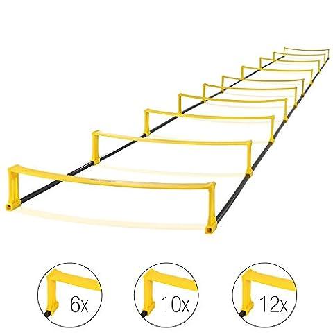High Pulse Echelle de rythme 2-en-1 – Echelle d'entraînement polyvalente pour travailler coordination et vitesse (10
