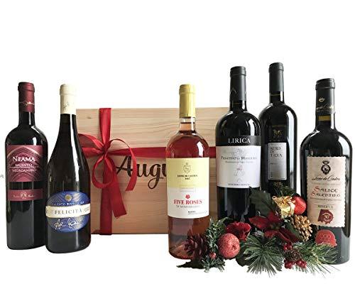 Speciale Cassetta Degustazione Vini Pugliesi - Vini Pregiati Come idea Regalo Natale - Cod. 77