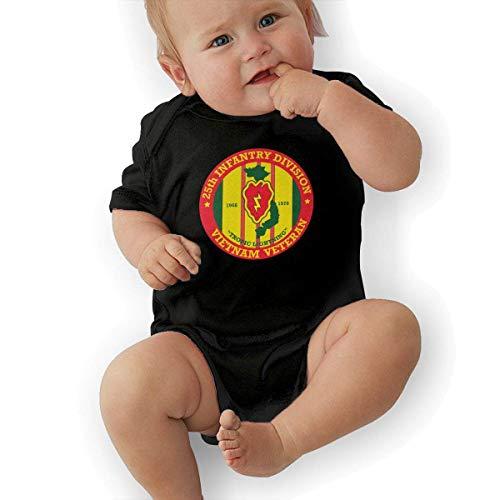 fdgjydjsh 25th Infantry Division Vietnam Veteran Funny Baby Onesies Novelty Toddler Infant Bodysuits Short Sleeve Black 2T (25th Infantry Division Vietnam)