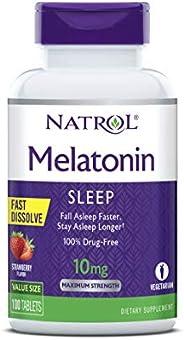 Natrol Melatonin Fast Dissolve Tablets, Helps You fall asleep Faster, Stay asleep Longer, Easy To Take, Dissol