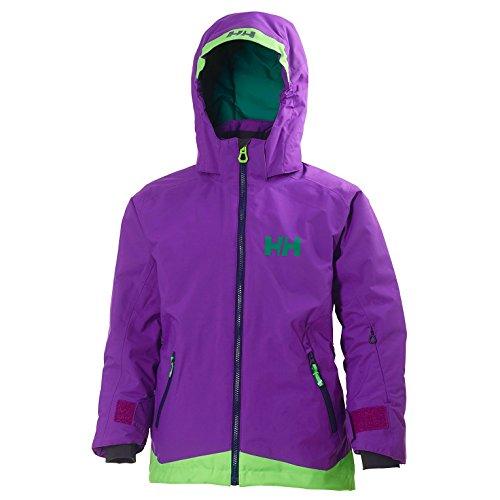 Helly Hansen Kinder JR LOUSIE Jacket Skijacke, Sunburned Purple, 176/16