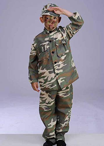 Boy Box Kostüm - Magic Box Int. Kinder Camouflage Army Boy Kostüm Large 8-10 Years