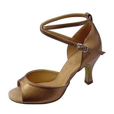 Silence @ pour femme Chaussures de danse latine/Swing/Salsa/Samba/Taffetas Grosse Heelblack/marron/argenté/doré/ doré