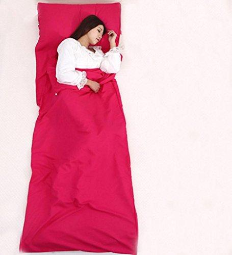 Séparation sale de train de train d'hôtel de voyage de sac de couchage feuille simple de lit sale 75cm * 210cm , red