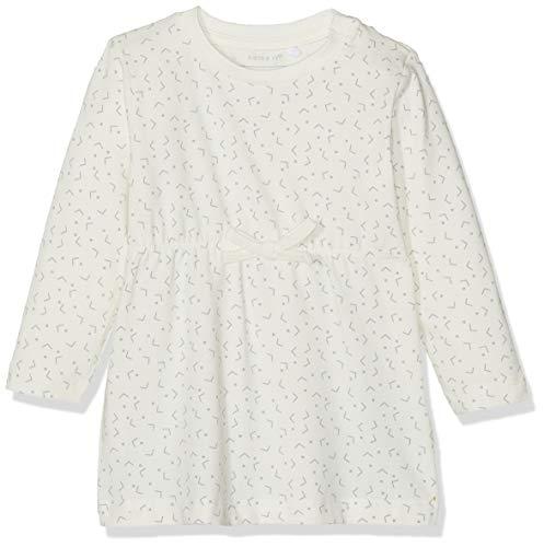 Name IT NOS Baby-Mädchen Kleid NBFDELUCIOUS LS TUNIC NOOS, Weiß (Snow White), (Herstellergröße: (Snow White Baby Kleid)