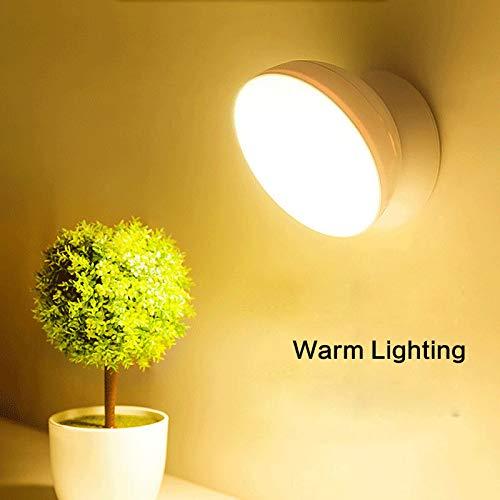 LNHYX Kreativität Led Nachtlicht 360 Drehbare Lampe Schlafzimmer Schrank Brust Auto Bewegungsmelder Beleuchtung Usb Ladung Kindernachtlicht - Schrank Tool Brust