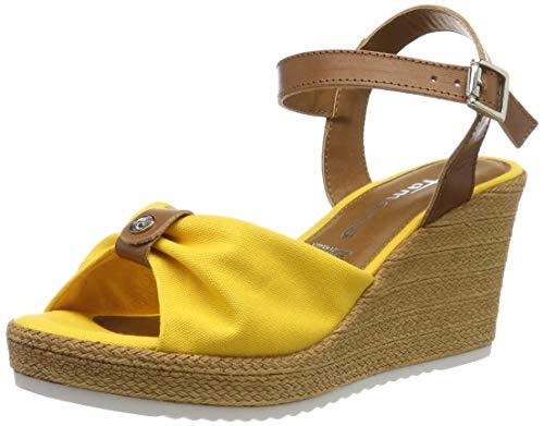 Tamaris Damen 1-1-28341-22 Riemchensandalen, Gelb (Sun/Cognac 634), 38 EU (Gelbe Schuhe Mit Absätzen Für Frauen)