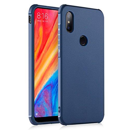 XiaoMi Mi Mix 2S Funda, Serie Negocios A Prueba de Choques Ultra Fino Suave Silicona Contraportada Caso para XiaoMi Mi Mix 2S (Azul)