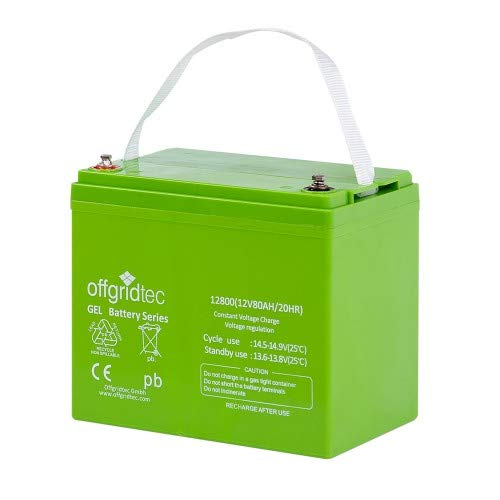 Offgridtec® 80Ah GEL Akku 12V Solarbatterie besonders zyklenfest Akku