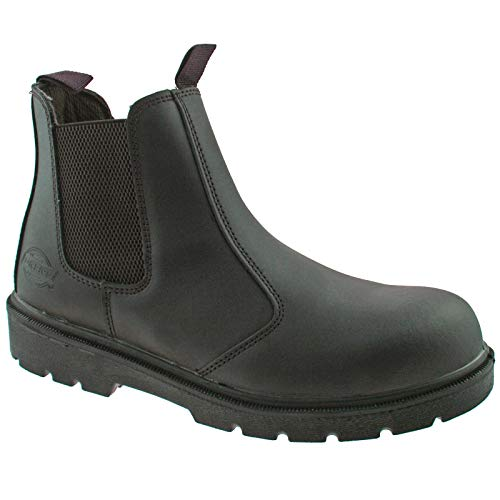 Dickies Mens Work Safety Steel Toe Cap Midsole Leather Dealer Boots Herren Cap Toe Boot