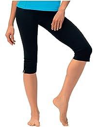 Damen Caprihose Jogginghose ideale Fitnesshose und Freizeithose 3 4 lang von Gwinner, Model Gabi