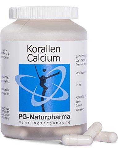 Calcium (Kalzium) mit Magnesium, 120 Kapseln, 1 Kapsel mit 500mg Calcium-Pulver, Erhaltung der Knochenfunktion & Muskelfunktion, hochdosiert