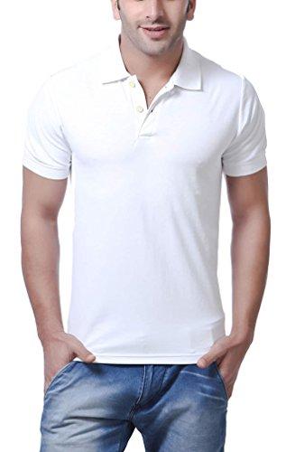 AMERICAN CREW Polo Collar White T-Shirt - XL (AC027-XL)