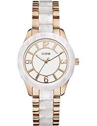Guess Damen-Armbanduhr Analog Quarz Edelstahl W0074L2