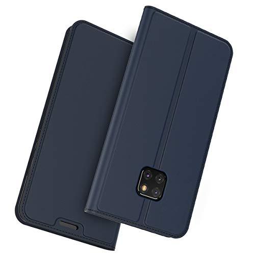 Wendapai Huawei Mate 20 Pro Hülle, Prämie PU Leder Brieftasche Pouch Flip Hülle Hülle Anti-Scratch Defender Hülle Cover Slim zum Huawei Mate 20 Pro (Blue)