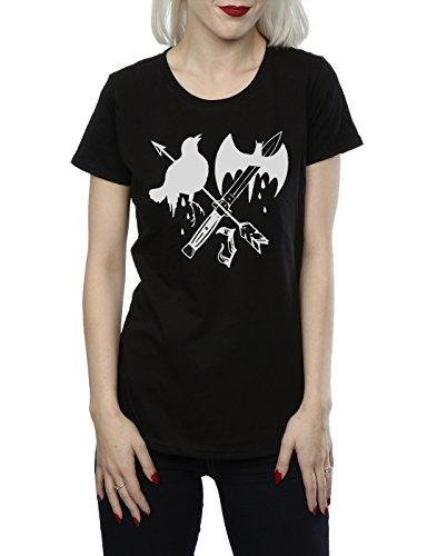 Suicide Squad Femme Joker Tattoo Icon T-Shirt Noir