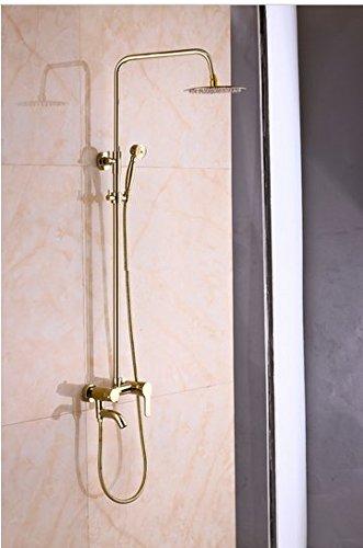 Gowe ti-pvd parete rubinetto doccia ultrasottile pioggia soffione doccia vasca miscelatore
