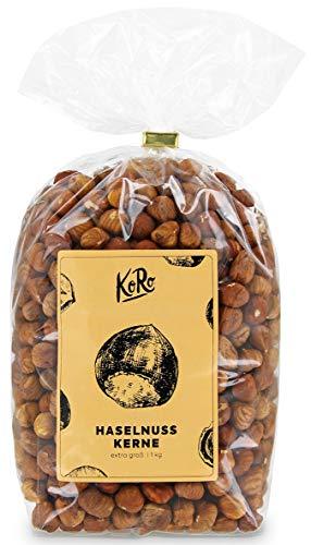 KoRo - Haselnusskerne 1 kg - Nüsse ohne Schale und ohne Zusätze (Gezuckerte Künstliche Früchte)