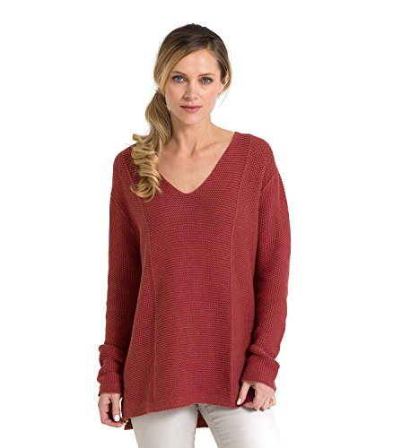 woolovers-womens-linen-and-cotton-textured-v-neck-knitted-sweater-cranberry-red-m