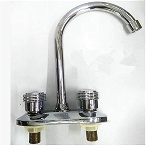 Doppia doppia leva doppio foro bacino bacino lavabo cucina rubinetto