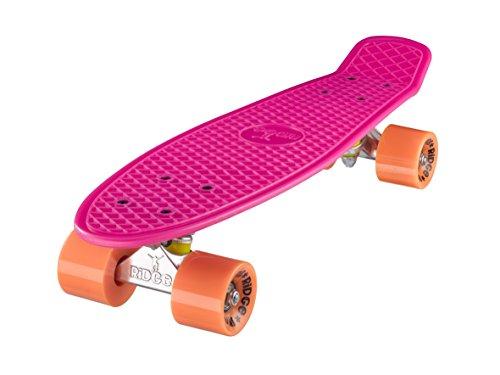 Ridge Retro Skateboard Mini Cruiser, rosa/orange, 22 Zoll - Arbor Element