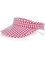 XFORE Jarrow d'été bouchon sport de golf de tennis coton velcro réglable visière soleil chapeau pour femmes à damier blanc/rose