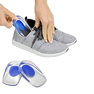 P P Enterprise Gel Heel Cups Silicon Heel Pad for Heel Ankle Pain, Heel Spur Shoe Support Pad for Men and Women Shock Cushion Pad for Heels (SHOE HEEL PAD)